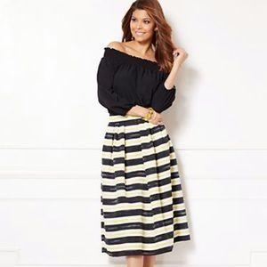 Eva Mendes Maddie Stripe Skirt